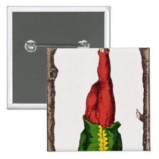 XII l'homme pendu, carte de tarot Macaron Carré 5 Cm