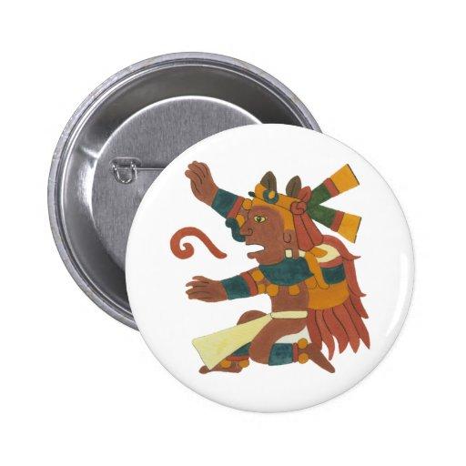 Xiuhtecuthli - Aztec/Mayan Creator good Pinback Buttons