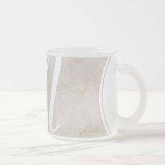 XL Monogram Silk Paper texture image Glass Mug