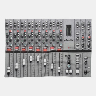 XL Studio Gear Dust Cover: Audio Mixer Design Kitchen Towel