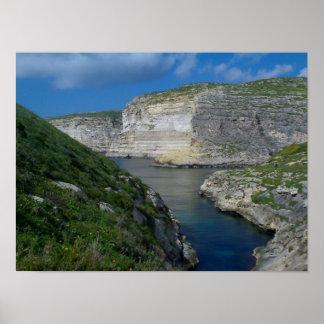 Xlendi Cliffs- Gozo, Malta Poster