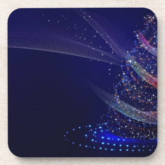 xmas abstract blue coaster