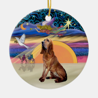 XMas Angel - Bloodhound Ceramic Ornament
