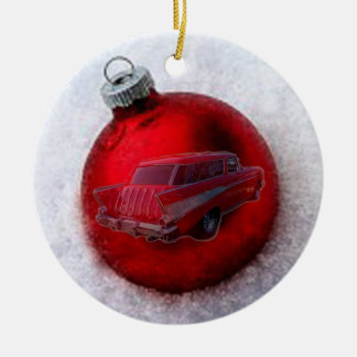 xmas ball ceramic ornament