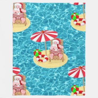 xmas beach santa claus blanket