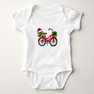 xmas bike baby bodysuit
