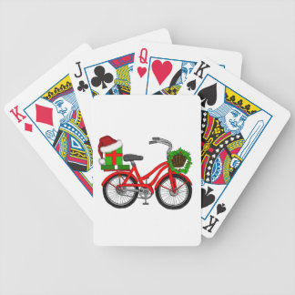 xmas bike bicycle playing cards