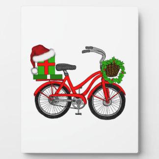 xmas bike plaque
