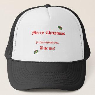 Xmas Bite Me Trucker Hat
