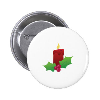Xmas Candle 2 Inch Round Button
