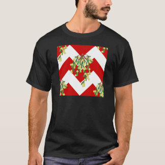 xmas chevron mistletoe T-Shirt
