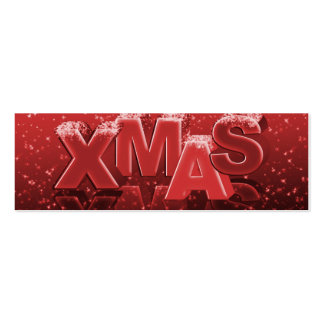 Xmas Christmas Business Card Templates