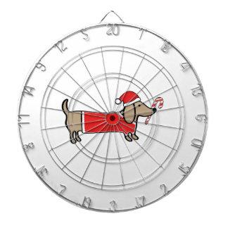 Xmas dachshund dartboard