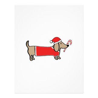 Xmas dachshund letterhead