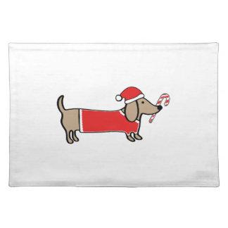 Xmas dachshund placemat