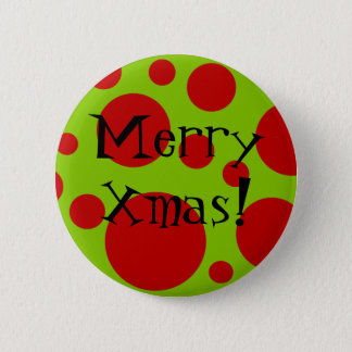 Xmas Dots 2 Inch Round Button
