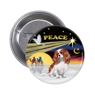 Xmas Dove 2(R)  - Blenheim Cavalier 2 Inch Round Button