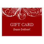 Xmas Elegant Gift Card Red Architecture
