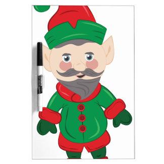 Xmas Elf Dry-Erase Whiteboard