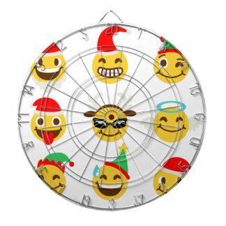 xmas emoji happy faces dartboard