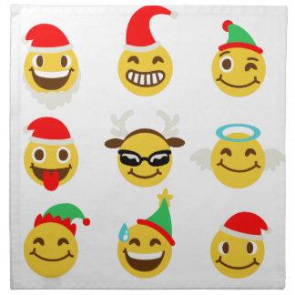 xmas emoji happy faces napkin