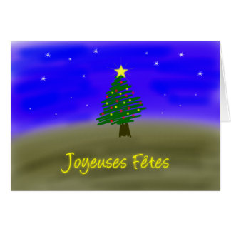 Xmas Evergreen - french Card