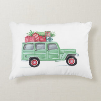 Xmas Family Truckster Accent Pillow