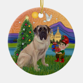 Xmas Fantasy - Bull Mastiff Ceramic Ornament