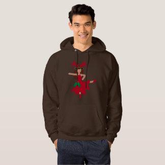 xmas flamenco dancer emoji mens hooded sweatshirt