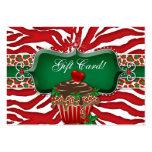 Xmas Gift Card Cupcake Zebra Leopard Heart