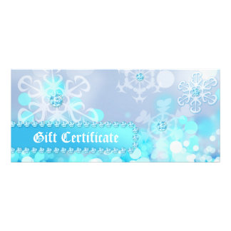 Xmas Gift Certificates Spa Blue Snow Jewelry
