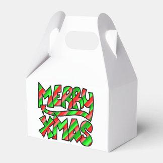 XMAS Graffiti Favor Box