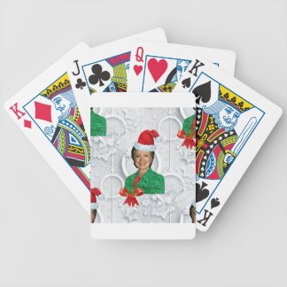 xmas Hillary clinton Bicycle Playing Cards
