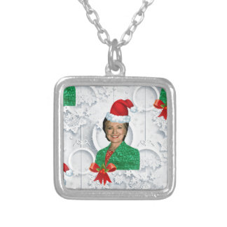 xmas Hillary clinton Silver Plated Necklace