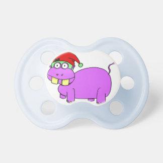 Xmas Hippo Pacifier