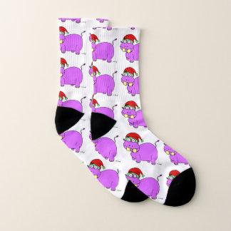 Xmas Hippo Socks 1