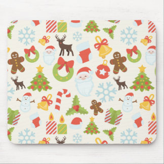 Xmas Icon Pattern mouse pad made with custom icons