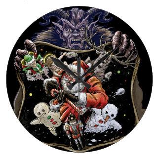 Xmas League Age of Krampus Large Clock