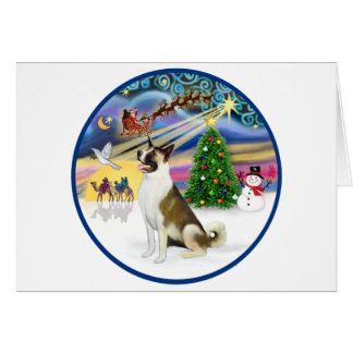 Xmas Magic and Akita Card