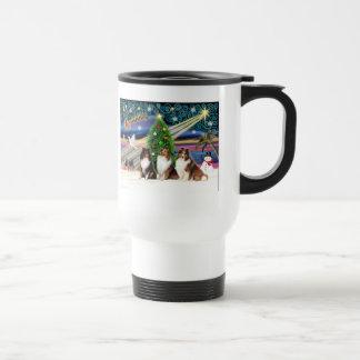 Xmas Magic / Shetland Sheepdogs (3) Travel Mug