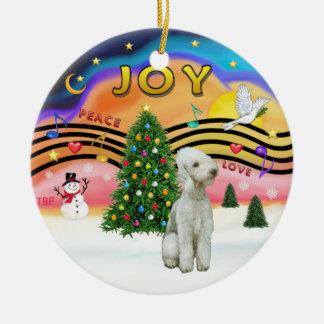 Xmas Music 2 - Bedlington Terrier Ceramic Ornament