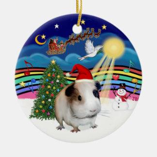 Xmas Music 3 - Guinea Pig #1 Round Ceramic Ornament