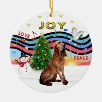 XMas Music - Bloodhound Ceramic Ornament