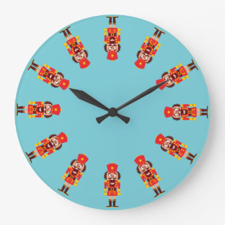 Xmas nutcracker breaks its teeth and goes nuts large clock