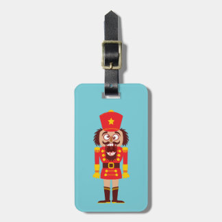 Xmas nutcracker breaks its teeth and goes nuts luggage tag