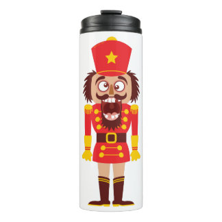 Xmas nutcracker breaks its teeth and goes nuts thermal tumbler