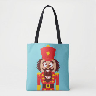Xmas nutcracker breaks its teeth and goes nuts tote bag
