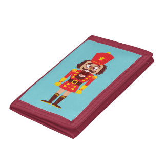 Xmas nutcracker breaks its teeth and goes nuts trifold wallet
