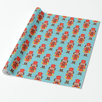 Xmas nutcracker breaks its teeth and goes nuts wrapping paper