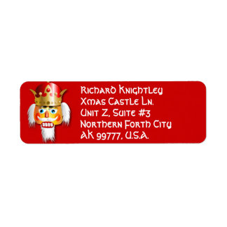 Xmas Nutcracker King Cartoon Return Address Label